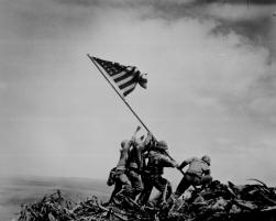 Flag raising on Iwo Jima.