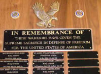 American Legion Post 4 Pocatello,Idaho In Remembrance of Plaque